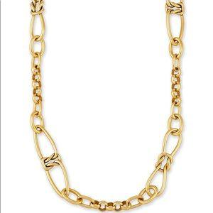 Kendra Scott Fallyn Necklace in Vintage Gold NWOT